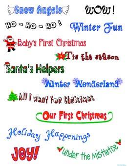 Free Christmas Digital Scrapbook Pages Holiday Santa