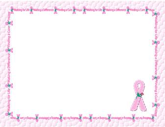 Similiar Printable Cancer Ribbon Border Keywords