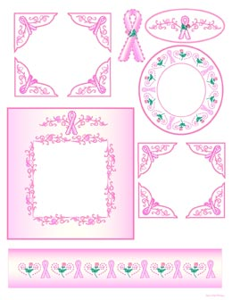 Free Printable Digital Scrapbook Template Pages Breast
