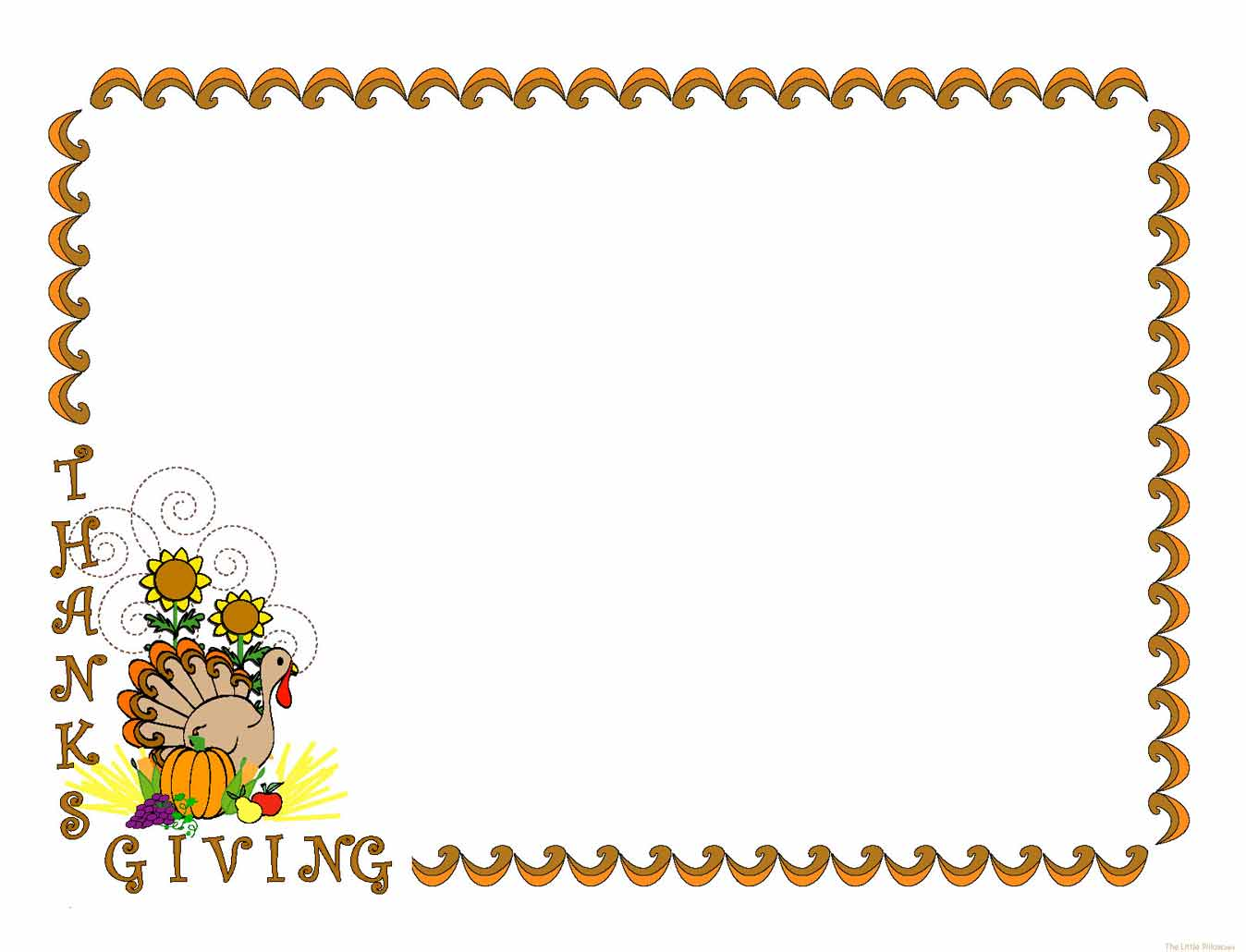 free printable thanksgiving clip art borders