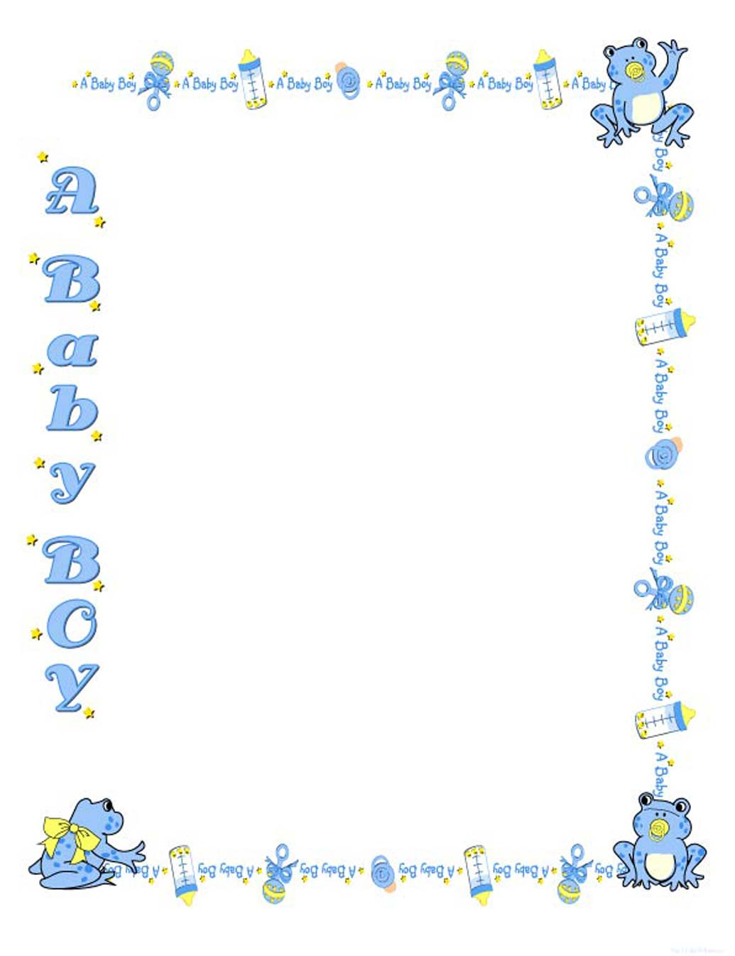 Baby Boy Clip Art Borders Images & Pictures - Becuo