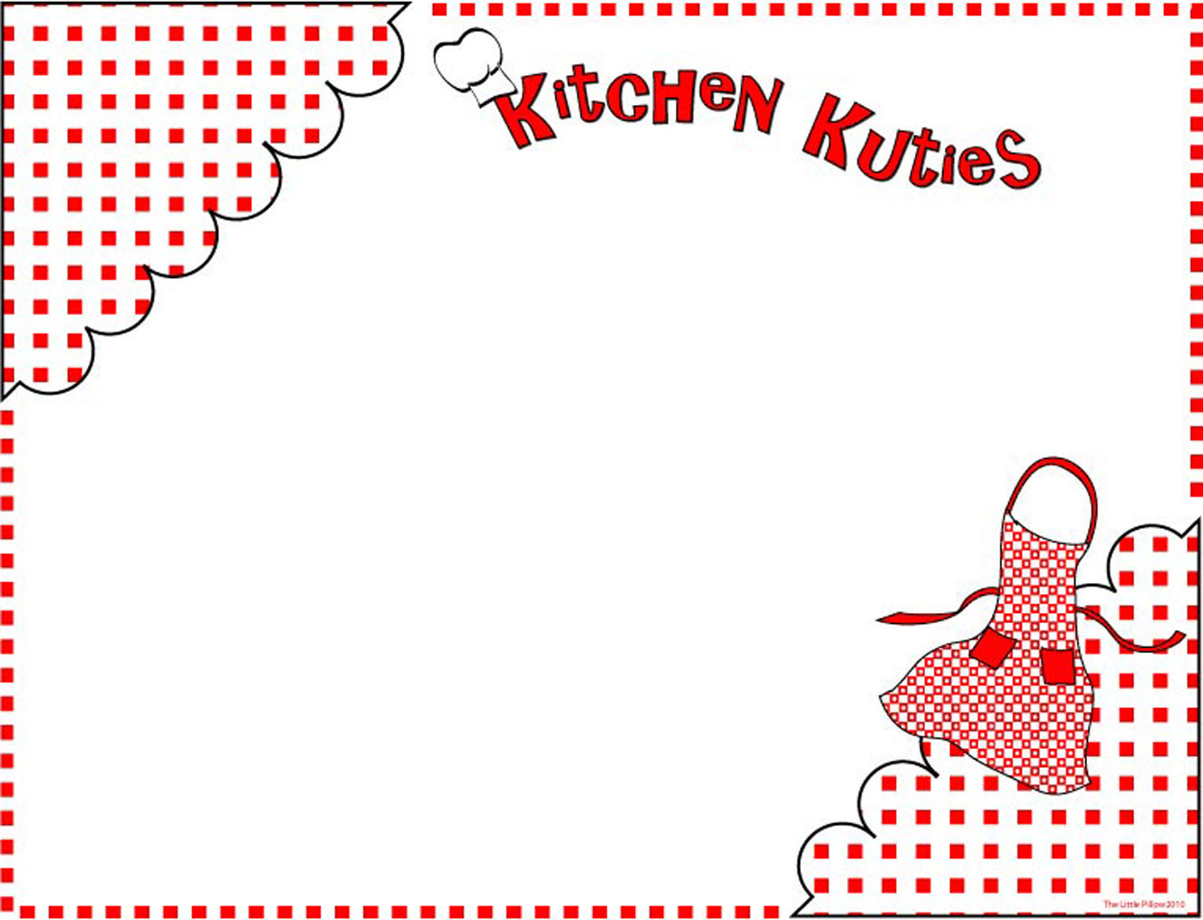 Free Printable Digital Scrapbook Template Pages Kitchen