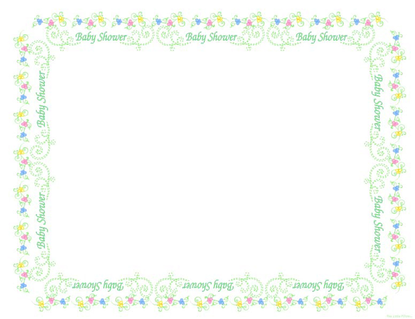 digital scrapbook pages baby shower free clipart page frames