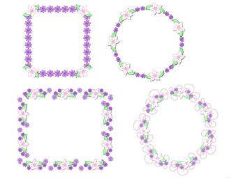 Free printable digital scrapbook template pages easter floral frames 1 frames 2 maxwellsz