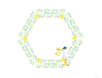 baby shower clip art frame