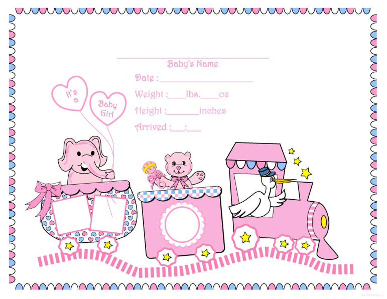 Birth Certificate Blank Printable For Girls Free printable, digital ...