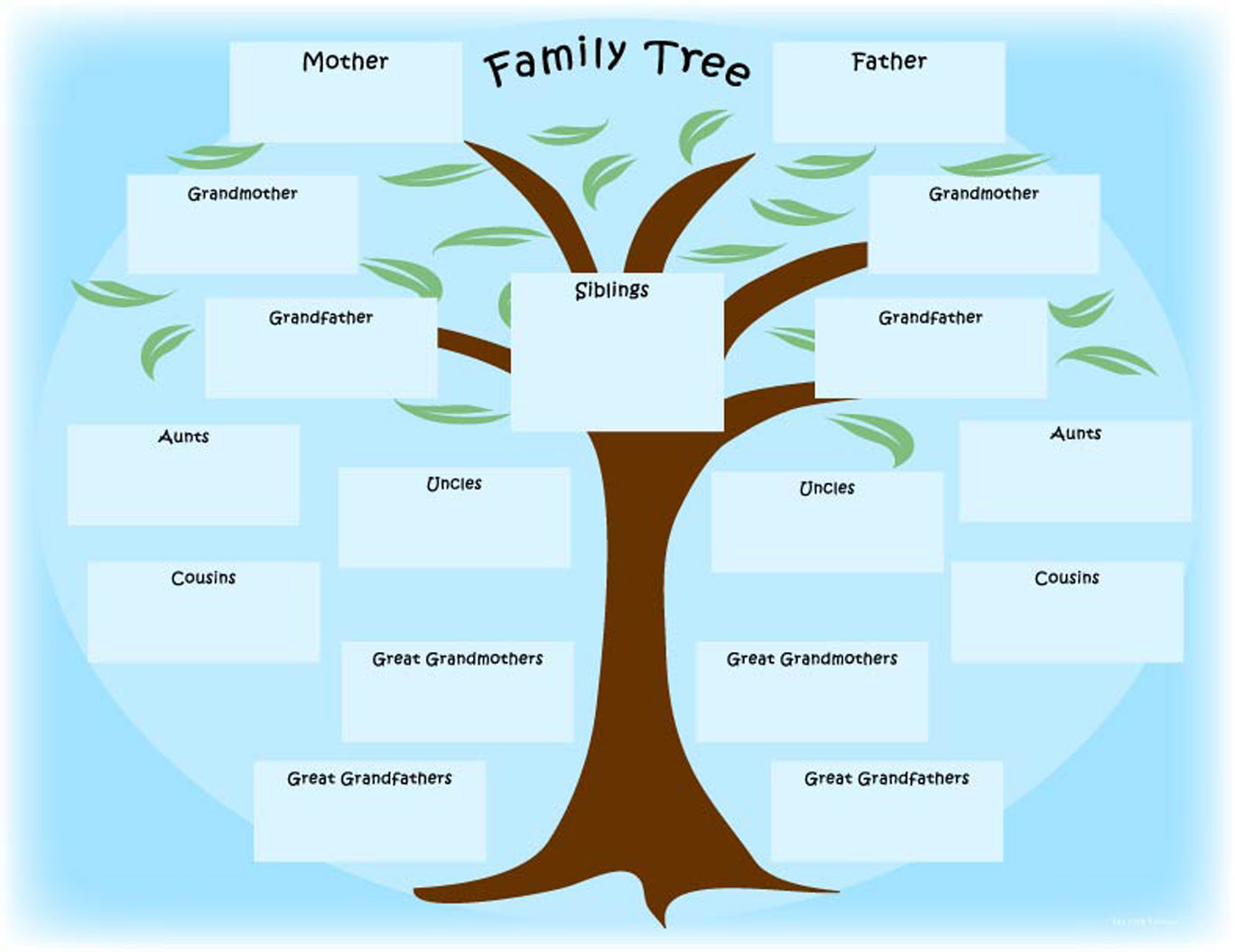 Printable newspaper activity the year i was born for Family tree template word 2007