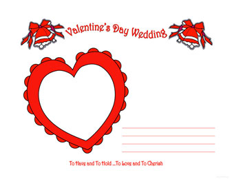 Free printable, digital, scrapbook Valentine wedding, Valentine ...
