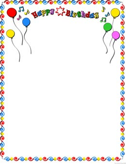 Birthday Frames Clip Art