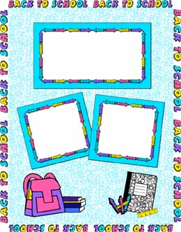 back to school page frame clip art