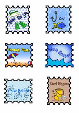 ... scrapbook pages, sea side, stamps, 4th of july, backgrounds, clip art